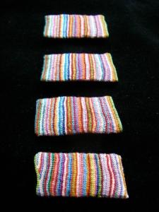 Serviettes de plage. 4 x 2 cm. 15€ pièce